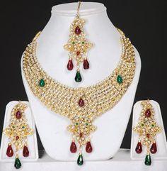 indian jewelry | Indian Kundan jewellery set