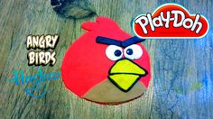 How to make Red Angry Byrd with play-Doh plasticine