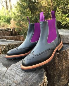 New Handmade Mens Black Chelsea Real Leather Boots, Men leather boot, ankle boot - Boots