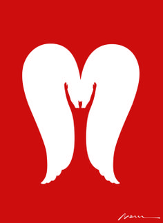 Risultati immagini per noma bar angel Noma Bar, Ange Demon, Elements And Principles, Shape Art, Simple Illustration, Typography Logo, Negative Space, Illustrations And Posters, Optical Illusions