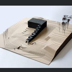by @sammy_bradhurst #next_top_architects Beautiful model. #architectureporn #architecture #model #wood #balsa #card
