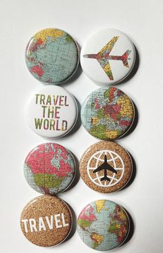 What an awesome accessory! Maps 2 Flair by aflairforbuttons on Etsy, $6.00
