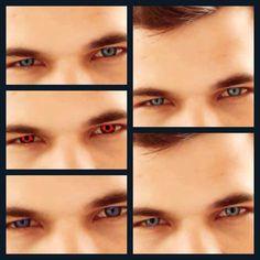 Taylor Lautner eye color change close up