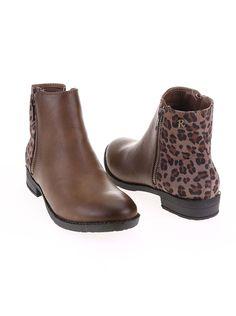 Hnedé členkové topánky s leopardím vzorom Refresh