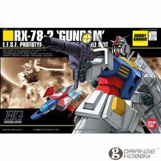 OHS Bandai HGUC 021 1/144 RX-78-2 Gundam Mobile Suit Assembly Model Kits #Affiliate