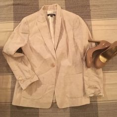 Brooks Brothers Blazer This beautiful blazer was only worn once and is in great condition! Padded shoulders and two front pockets. Heels are also for sale so ask me for a bundle or look for its listing of interested  Brooks Brothers Jackets & Coats Blazers