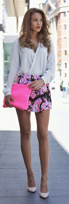 Pop Of Pink Chic Streetstyle by Nada Adellè