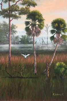 Have you heard of the Florida Highwaymen? Between 1950 and 1980 these African-American artists painted Florida landscapes and traveled around the state to sell their paintings. We here at Brooks are proud to have 5 of those paintings. These artists' stories are interesting and such a part of our local history. Here's one in our collection. To read more about them... http://www.brookstropicals.com/blog/florida-highwaymen-at-brooks-tropicals/