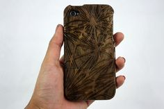 Laser Engraved Wood iPhone 4/4s Case  WEB by LimitlessLasers, $40.00