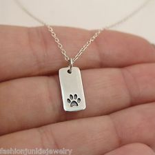 Paw print charm and chain are made out of sterling silver. Animal Jewelry, Dog Tags, Dog Tag Necklace, Silver Jewelry, Women Jewelry, Charmed, Sterling Silver, Chain, Jewelries