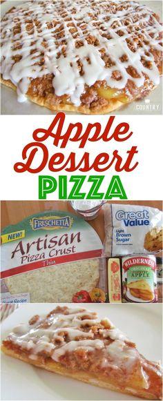 Apple Dessert Pizza Rezept von The Country Cook Mini Desserts, Sweet Desserts, Easy Desserts, Plated Desserts, Healthy Desserts, Fruit Recipes, Apple Recipes, Cooking Recipes, Skillet Recipes