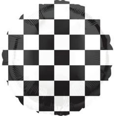 Decorate your race car-themed party with Black & White Checkered Balloon! This round Black & White Checkered Balloon is self-sealing and reusable. Jumbo Balloons, Printed Balloons, Letter Balloons, Helium Balloons, Confetti Balloons, Foil Balloons, Balloon Pump, Balloon Arch, Balloon Garland