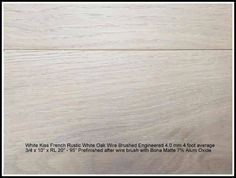 """Euro French White OAK Rustic Wire Brush Prefinished 10"""" Engineered High-End 3/4"""" x 10"""" x Random Lengths 20"""" - 95"""" Matte Finish 7% by BONAAdmin Area"""