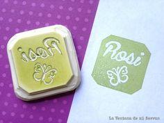 La ventana de mi desván: Nuevos sellos personalizados: Rosi