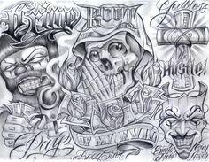 Chicano+Art+Tattoos   chicano art flash - Dragon-Tattoo Hamburg