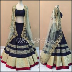 Cape Crusader, lehenga by MischB Couture