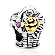 #flower #beads #beaded #charmbracelets #charms #jewelry #jewellery #pandora…