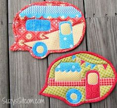"Love | Free ""Happy Camper"" potholder pattern and instructions » Suzy Sitcom"