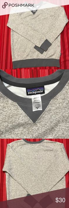 Patagonia Men's Heather Gray Sweatshirt Gently used long sleeve! Patagonia Shirts Sweatshirts & Hoodies