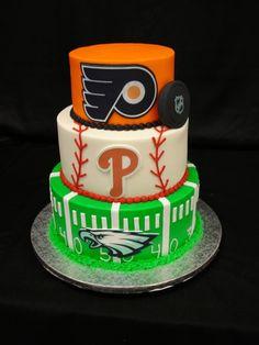Enjoyable 27 Best Philadelphia Sports Cakes And Desserts Images Sport Funny Birthday Cards Online Hendilapandamsfinfo