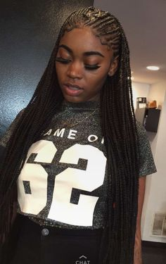 Braids make hair grow. So we think it's thanks to the braids! Certainly the protective hairstyles of this type allow our… Continue Reading → African Hairstyles, Weave Hairstyles, Girl Hairstyles, Protective Hairstyles, Small Box Braids Hairstyles, Wedding Hairstyles, Black Girl Braids, Girls Braids, Kid Braids