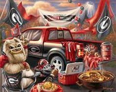 Georgia Bulldogs - I love, love, love this drawing. The graphics are so interesting.