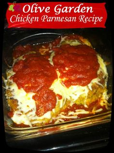 Olive Garden Chicken Parmesan Copy Cat   I recently just had chicken parm for the first time and loved it! I have been wanting to make it at home ever since. I can't wait to try this recipe!