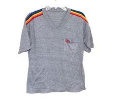 Vintage 80s heather gray tshirt hawaii rainbow by 216vintageModern