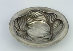 Wally Gilbert 4 Chased silver dish, 2012, 190mm diameter, Britannia silver, Photo Wally Gilbert www.wallygilbert