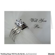 Shop Wedding Rings Will You Be My Bridesmaid Invitation created by loraseverson. Custom Invitations, Invitation Cards, Wedding Invitations, Bridesmaid Cards, Will You Be My Bridesmaid, Create Yourself, Wedding Rings, Engagement Rings, Prints