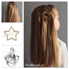 Star hairstyle with star hairclip from Goudhaartje.nl inspired by…