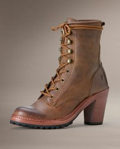 Women's Lucy Lace Up Boot - Tan