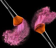 Photo cosmetic brush by rami yazagi on Makeup Backgrounds, Makeup Wallpapers, Blush Wallpaper, Makeup Business Cards, Makeup Illustration, Media Makeup, Makeup Artist Logo, Pink Bubbles, Makeup Rooms