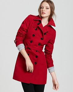The closest I could find to my red trench coat, only this one is nicer.  Mine needs to be tailored, which I will get to eventually lol