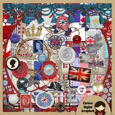 United Kingdom Digital Scrapbook Kit