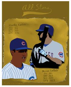 Starlin Castro and Bryan LaHair, 2012 Cubs All-Stars.