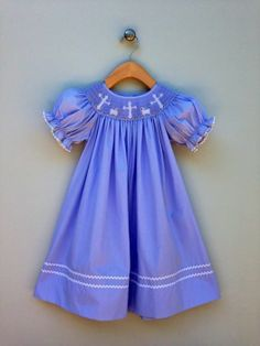 Smocked Crosses and LAMBS Bishop by Claire  Charlie - Size 4T - S/S