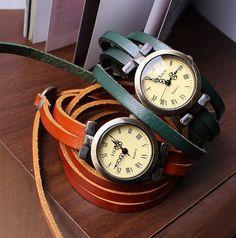 Leather Wrap Watch Women Wrap Watch Vintage by hgforeverstar, $15.99