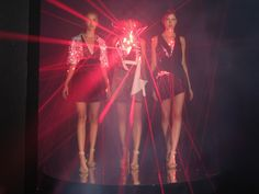 Hussein Chalayan laser dresses