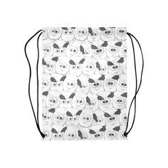 Crazy Herd of Sheep Medium Drawstring Bag Model 1604 (Twin Sides) * Sheep, Drawstring Backpack, Twins, Medium, Model, Bags, Handbags, Scale Model
