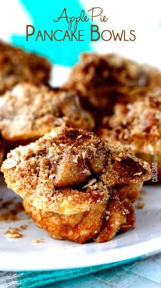 Doesn't get better than apple pie AND pancakes! German pancake batter baked in a cupcake pan then layered with warm, cinnamon apples and topped with brown sugar crumb topping. My favorite recipe of Fall yet!