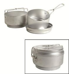 Czech 3 Piece Mess Kit  HD Aluminum Czech Military Surplus -- Check this awesome product by going to the link at the image.
