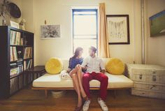 at home engagement session | Photo by W.Scott Chester