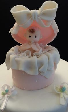 Baby Boy or Girl in a Surprise box Great as a favor for your events they are approx about 6 inches tall also great decoration for Cakes and Centerpieces Listing is for one piece One Baby in A box Cake