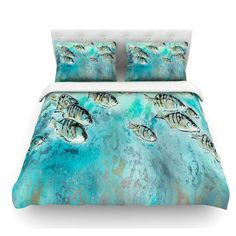 East Urban Home Perch Surfin' by Josh Serafin Featherweight Duvet Cover Size: King/California King, Fabric: Woven Polyester