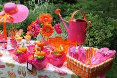 pink and orange flip flop party!