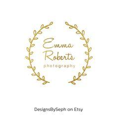 Premade Logo Design & Photography Watermark  Gold by DesignsBySeph