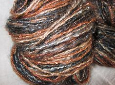 Hand Spun Yarn Mohair Merino Silk Tencel by larkspurfunnyfarm, $18.00