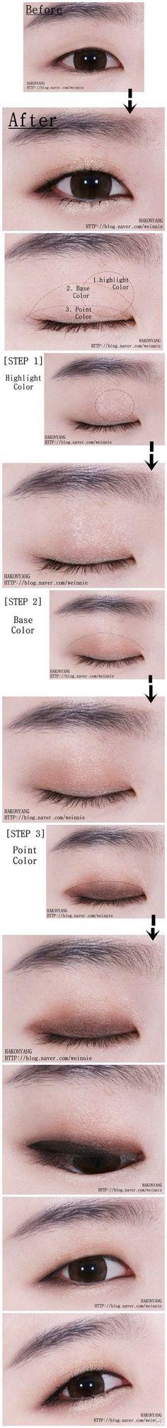 รวม How-To แต่งตาสำหรับสาวหมวย ตาชั้นเดียว (แบบภาพ)