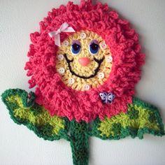 Crochet happy flower, by Jerre Lollman, my own design